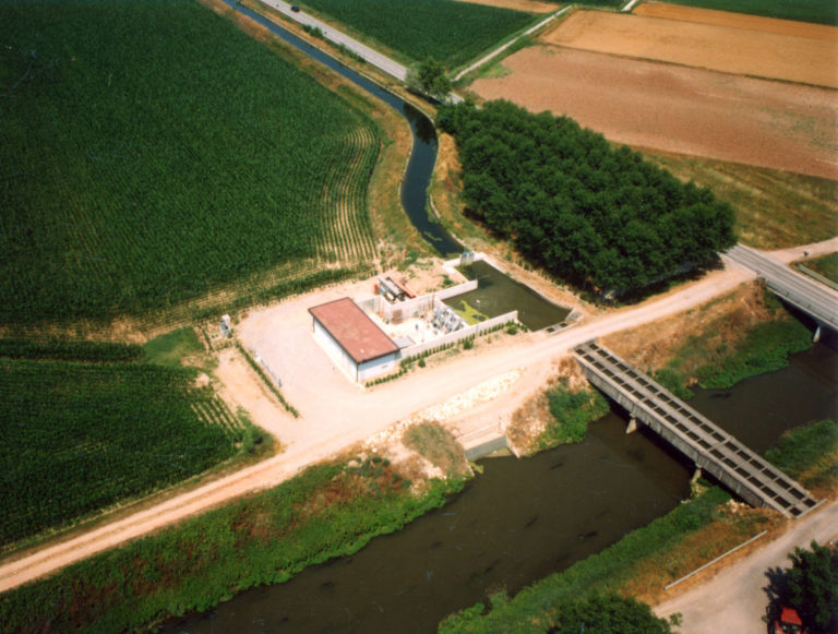 Impianto di derivazione irrigua dal Canale Acque Alte, in Comune di Bozzolo.